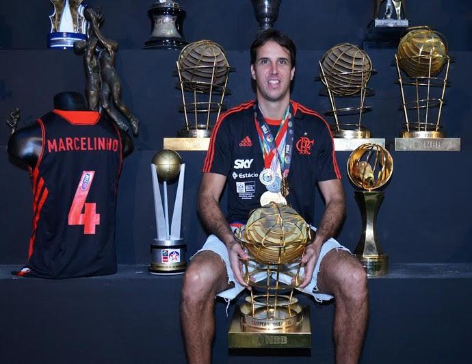 Marcelo Machado, Marcelinho, jogador de basquete do Flamengo, campeão do NBB (Foto: André Durão)