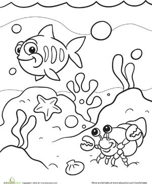 Under the Sea | Worksheet | Education.com