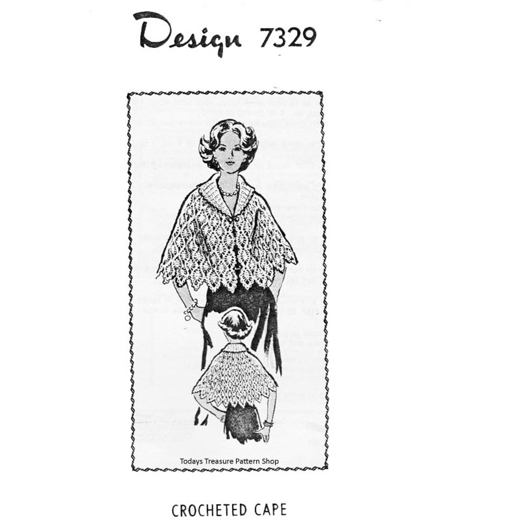 Long Crochet Cape Pattern in Pineapple Stitch
