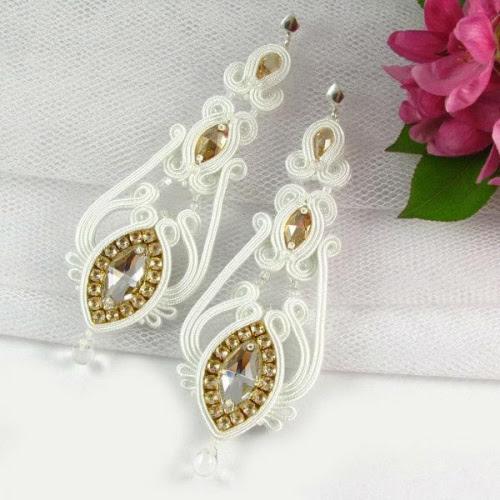 Kandelabrowa biżuteria ślubna soutache