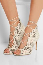 Laser-cut leather sandals