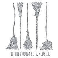 If the Broom Fits Wood-Mount Stamp by Stampin' Up!