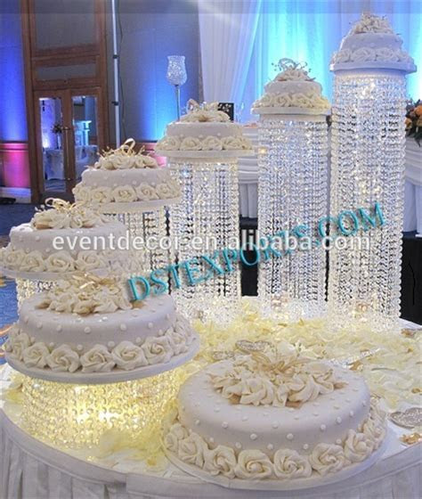 5 Tiered Acrylic Crystal Cake Stands,Decorative Cake