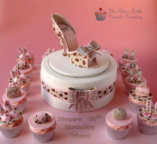 Leopard Skin Shoe Celebration Cake