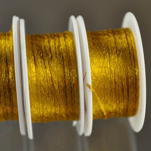 s28349 Stringing - 1 mm Wire Lace Ribbon - Marigold (Spool)