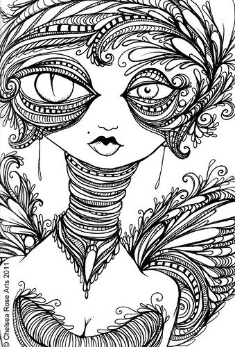 Chelsea Rose Fine Art Three New Pen And Ink Drawings A