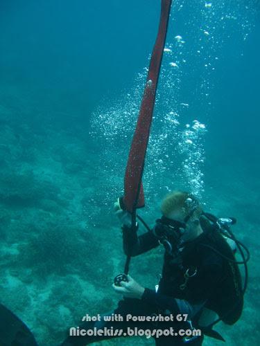 drew setting up buoyancy