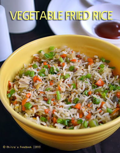 Vegetable fried rice recipe chitras food book ingredients ccuart Image collections