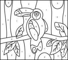 9 best images of free printable toucan craft  rainforest craft preschool art toucan coloring