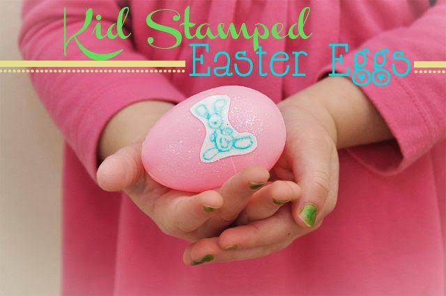 Kid Stamped Easter Egg Craft via Cherishedbliss.com