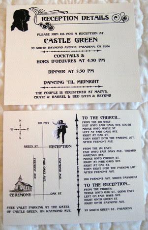 Reception Details card