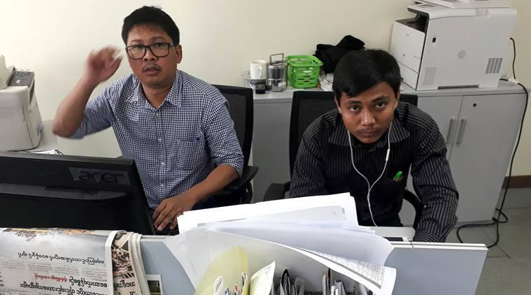 reuters journalist, reuters journalists in Myanmar, Myanmar journalists in remand, Official Secrets Act, Myanmar news, indian express news