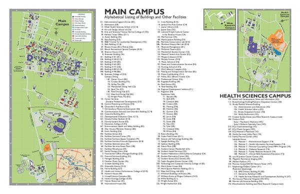 Ecu Campus Map States Maps