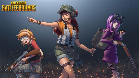 pubg anime crossover art hd games  wallpapers images