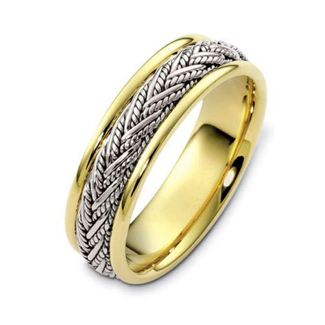 Men's Braided Two Tone Gold Band #315   Seattle Bellevue