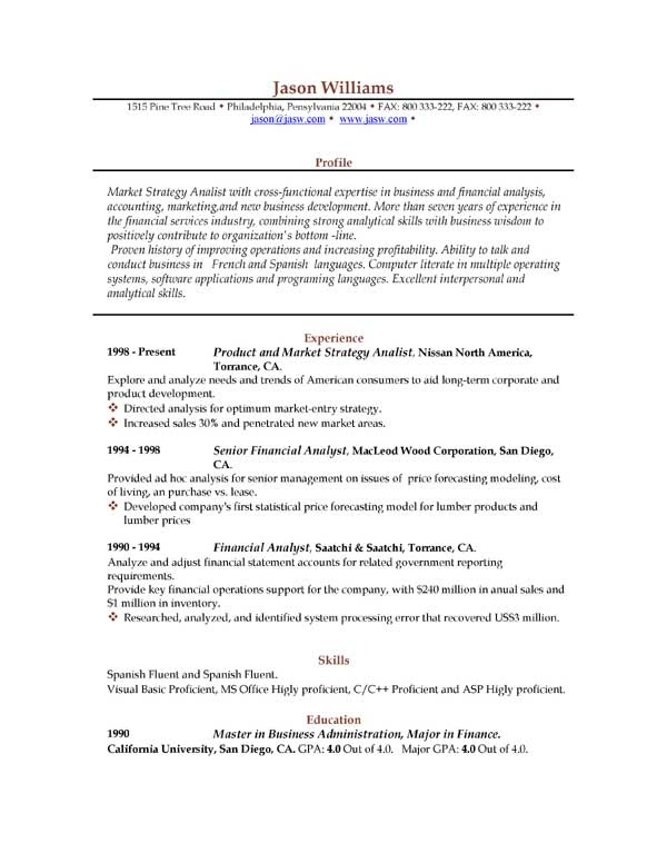 25 Elegant Sample Resume Format Download Best Resume Examples