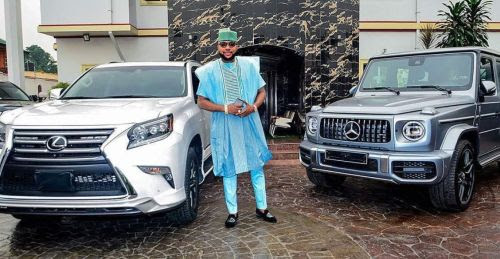 Too Much Money!! Checkout The 2 Rolls Royce 'E Money' Bought For Himself & Wife (N300 Million Each)