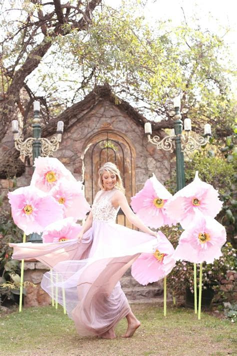 Alice in Wonderland Wedding: Giant Paper Flowers  Whimsy