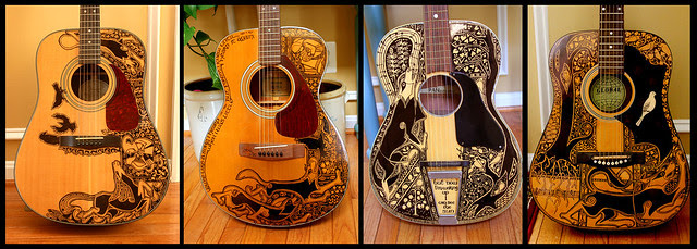 Sharpie Guitars All