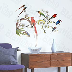 Amazon.com: [Colored Bird Party] Decorative Wall Stickers ...