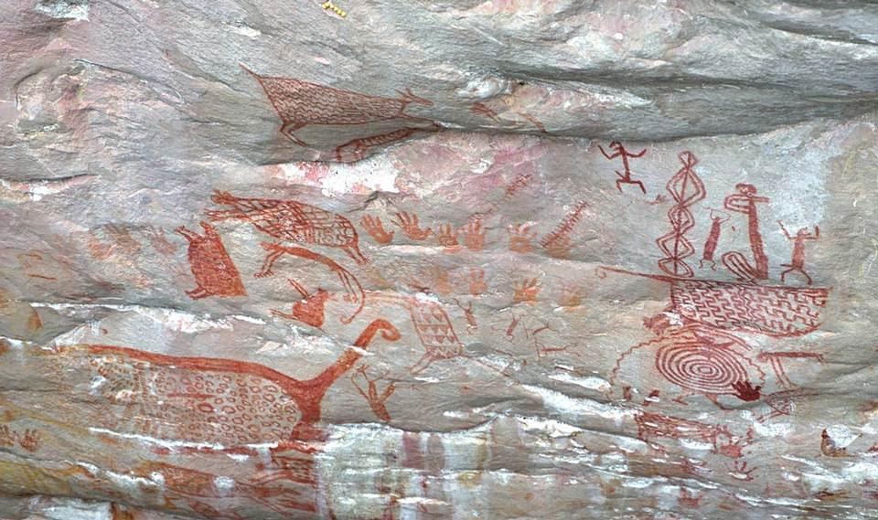 Pinturas rupestres fotografiadas, Cerro Campana, Chiribiquete.