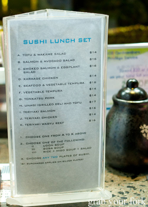 Sushi lunch set menu at Umi Kaiten-Zushi