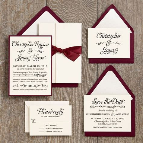 Wedding Invitation Ideas   Paper Source with fig and cream