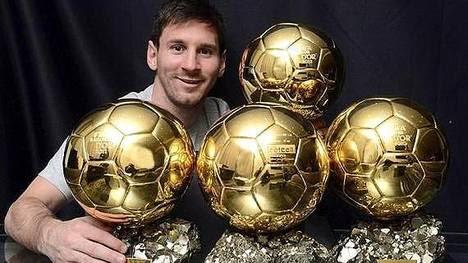 Messi y sus cuatro Balones de Oro, y va por más