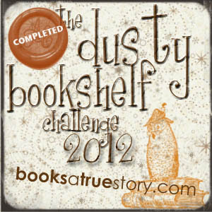 Dusty Bookshelf Reading Challenge Completed Badge