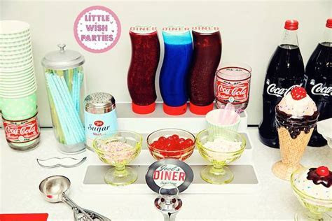 Kara's Party Ideas 1950's Diner   Rock N Roll Birthday Party