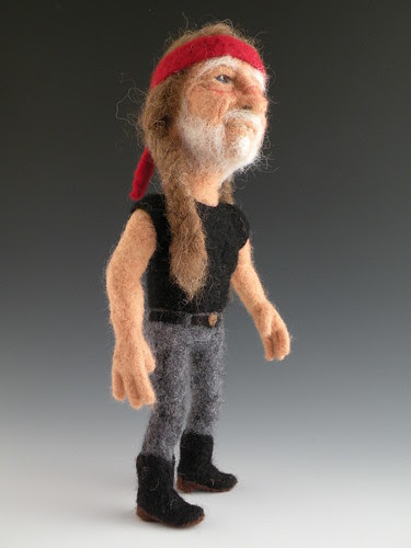Needle Felted Willie Nelson