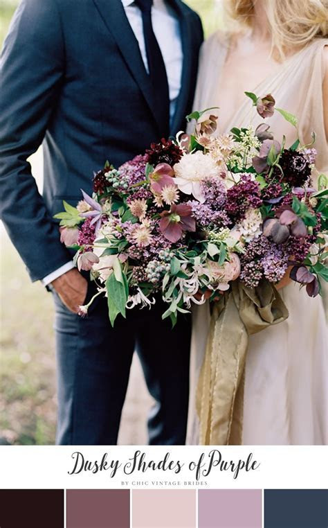 10 Stunning Autumn Wedding Colour Palettes   Purple fall