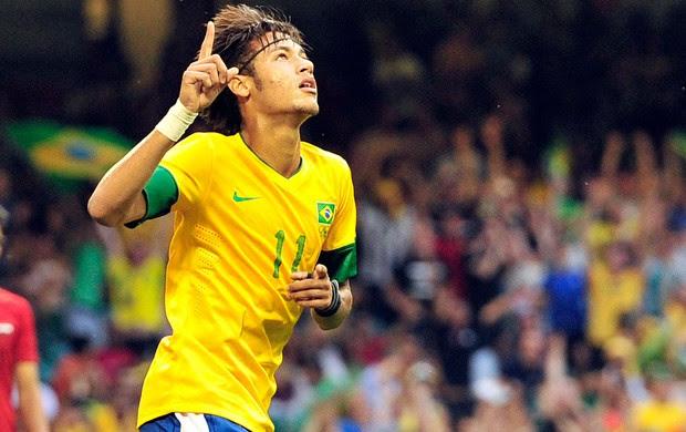 Neymar, Brasil x Egito (Foto: Agência Reuters)