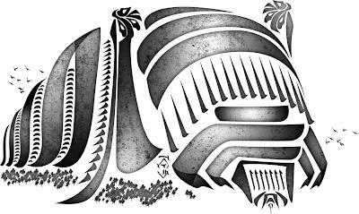 Hulgue - calligraphic beast