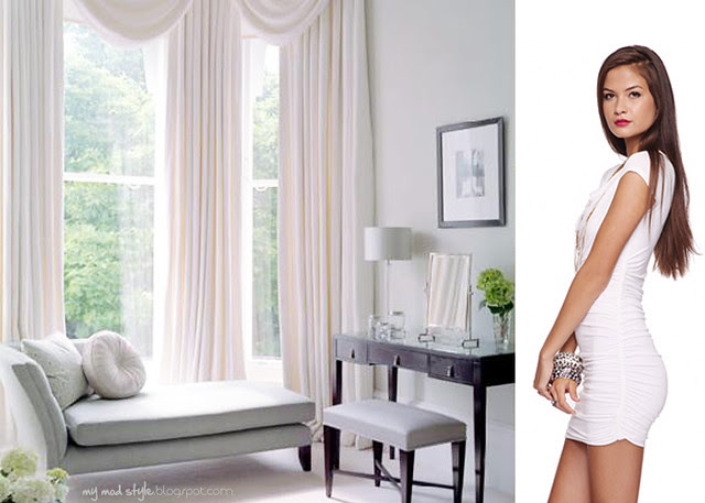 dress and room white ruffled