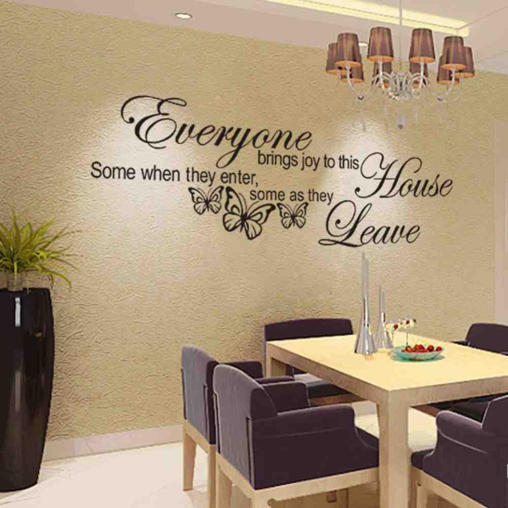 Happiness DIY Wall Stickers Mural Kids Bedroom Living room ...