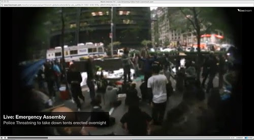Wall Street Protest Live Streamed by stevegarfield