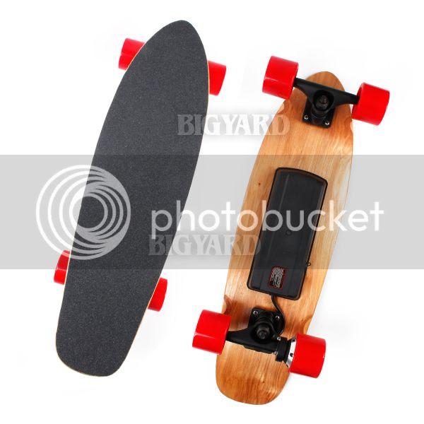 27\u0026quot; Motorized 4 Wheel Wireless Remote Control Rechargeable Electric Skateboard