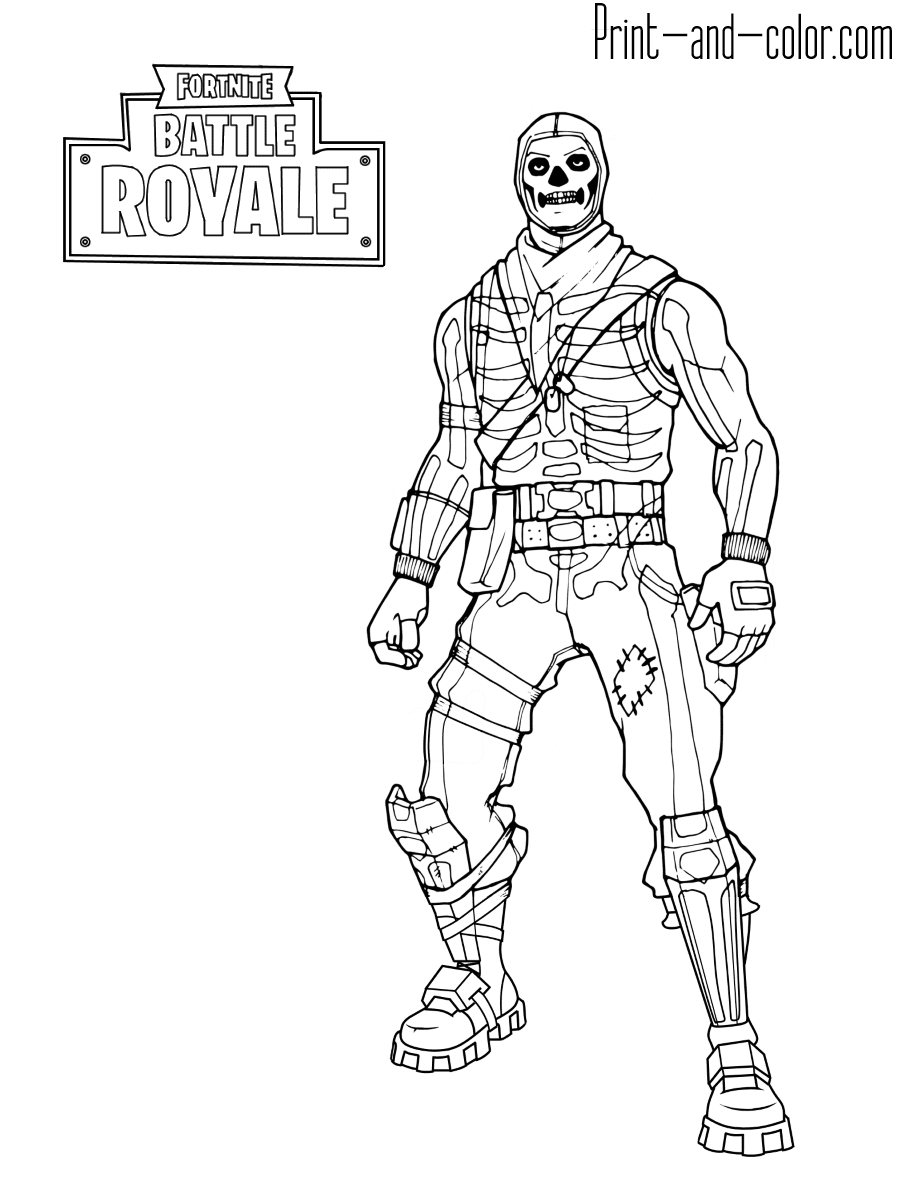 Fortnite Skins Coloring Pages To Print | Fortnite Free ...