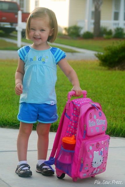 Lauren's first day of preschool