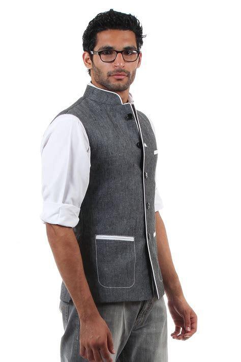 Nehru jacket vest (front).   Nehru Jackets & Waist Coats