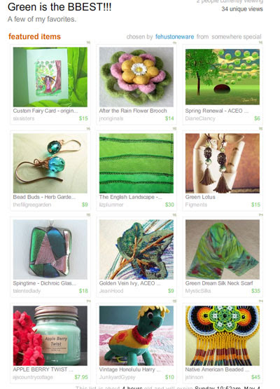 Green is the BBEST!! Treasury
