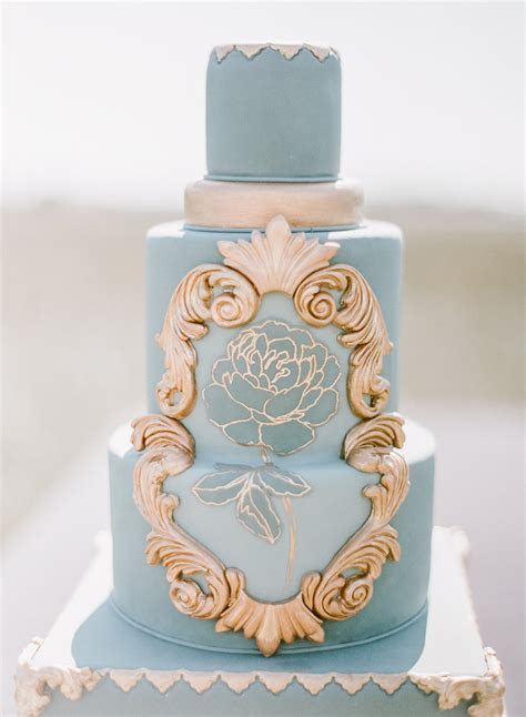 Jade& Gold Tall Wedding Cake   Chic Vintage Brides : Chic