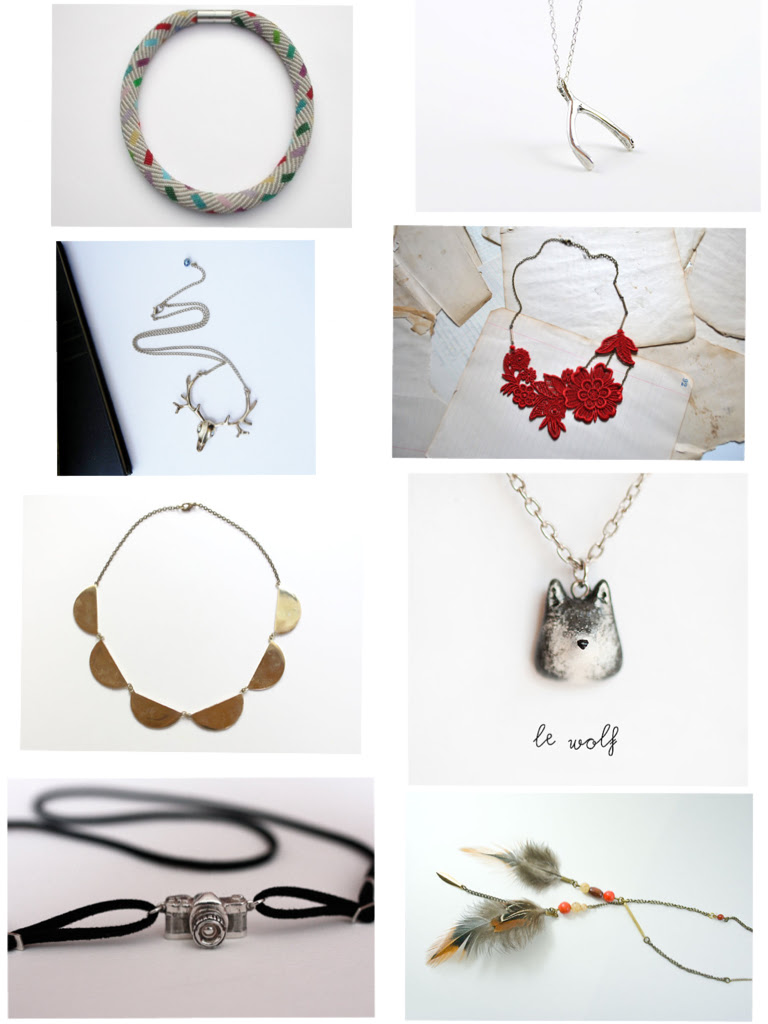 christmas wishlist • handmade necklaces.