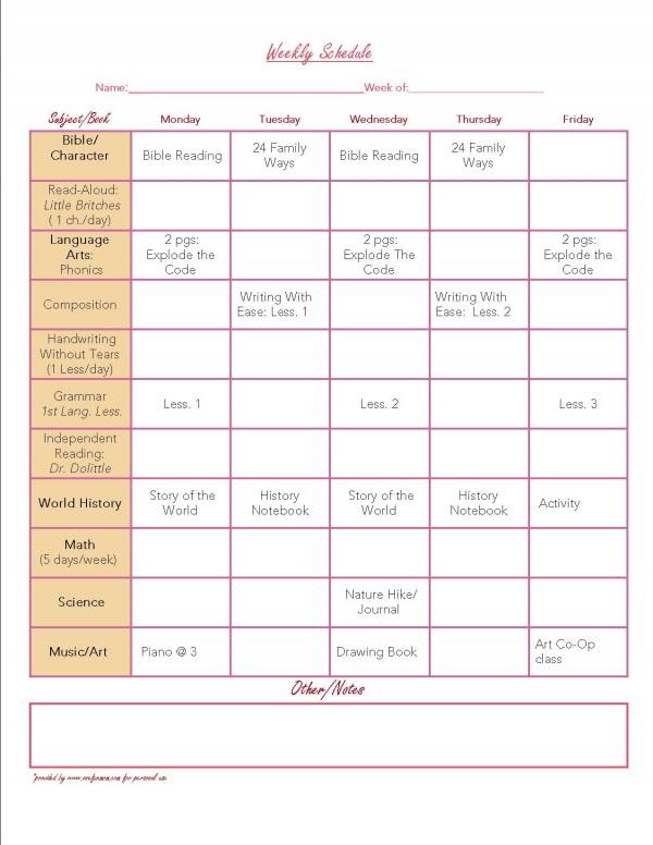 Homeschool Daily Planner Free Printable   Daily Agenda Calendar