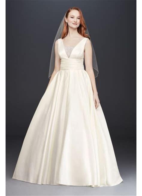 Cummerbund Satin Ball Gown Wedding Dress   David's Bridal