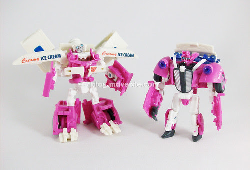 Transformers Skids & Mudflap RotF Deluxe Ice Cream Truck - modo robot