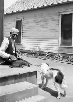 Slave with his Dog
