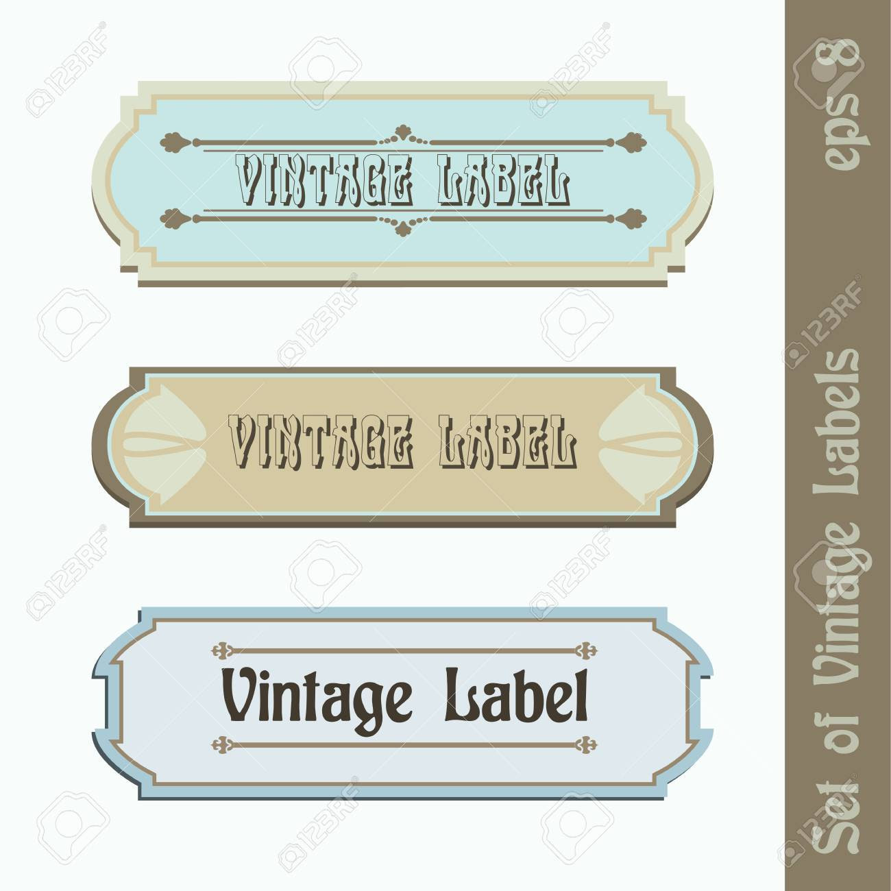 Set Of Three Vintage Labels, Easy Editable Royalty Free Cliparts ...