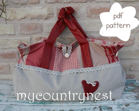 Cartamodello: knot bag - cartamodello borsa - cartamodello borsa da spalla - cartamodello handbag - cartamodello borsa grande